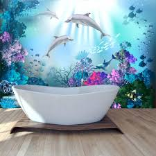 wallpapers for girls bedroom dolphin wall mural under the sea wallpaper girls bedroom photo home decor