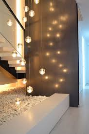 home lighting decor. lights coming up from garage between the two apartments landing before stairs to our house home lighting decor u