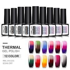 <b>LEMOOC</b> 8ML Thermal <b>Nail Gel</b> Polish 3 in <b>1</b> Temperature Color ...