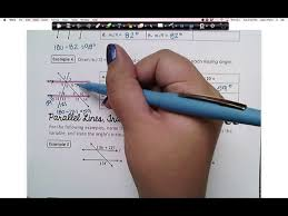 Here we have two lines that are parallel to each other. Geometry 3 2 Notes Youtube