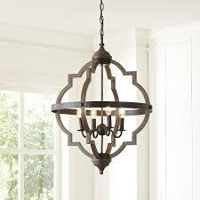 trendy candle style chandelier bennington farmhouse touches