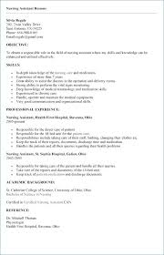 Cna Resume Template Cv Format And Sample Unique Cna Resume New Skills Templates For
