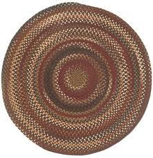 capel rugs bangor wool variegated country braided round rug cinnabar 500