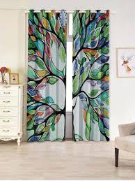latest life of tree print blackout 2 window curtains dotz shower curtain