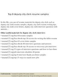Municipal Clerk Sample Resume Top224deputycityclerkresumesamples224lva224app62249224thumbnail24jpgcb=224243224522422409 19