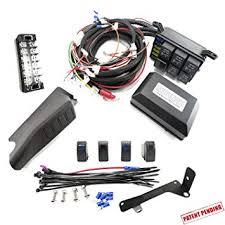 amazon com jeep jk control box electronic 6 relay system module jeep jk control box electronic 6 relay system module wiring harness kit