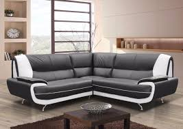 brand new palermo faux leather corner sofa in black white black red and