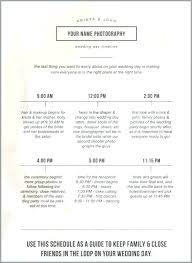 Destination Wedding Itinerary Template