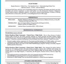 Nurse Anesthetist Resume Nurse Resume Examples Staff One Page Anesthetist Breathtaking Cv 65