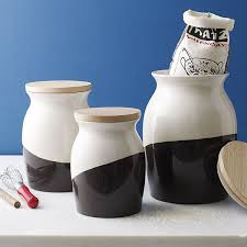 view in gallery stylish dipped kitchen canisters