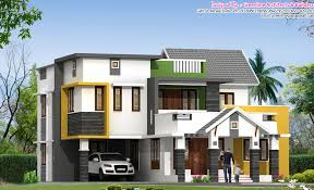 Unique House Designs   KeralaHousePlannerVery stylish Contemporary BHK Villa design at sq ft