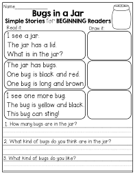 Kindergarten Reading Worksheets Packets | Homeshealth.info