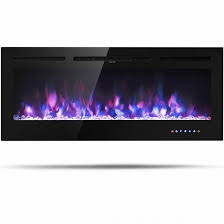 50 electric fireplace in wall