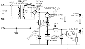 12v car battery charger (1n4001)_circuit diagram world car alternator charging circuit diagram at Car Battery Charger Schematic Circuit Diagram