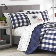 full queen lake house plaid quilt set
