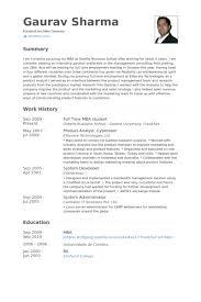 Mba Graduate Resume Custom Resume Of Mba Students Mba Student Resume Samples VisualCV Resume