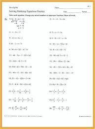 multi step algebra equations worksheets solve multi step equations worksheet salary bill multiple step equations worksheet