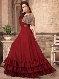 Designer Clothes For Wedding Guests Women Gowns 2020 Buy Indo Western Gowns Wedding