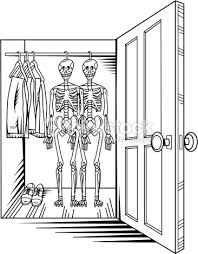open closet door drawing. Open Closet Door Drawing A View Of Two Skeletons Hanging In An Vector Art E