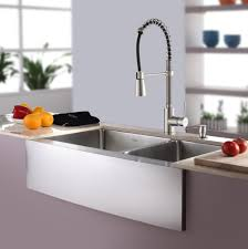 Stainless Steel Faucets Kitchen Kitchen White Windows Blind Combine With Stainless Steel