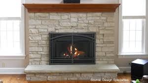 between fireplace doors