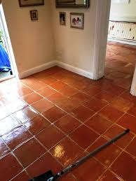 terracotta floor after deep clean and seal in twickenham