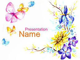 Butterfly Frame Presentation Template For Powerpoint And