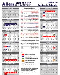 The Year Calendar Academic School Year Calendar 2018 2019 School Calendars