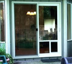 screen door with doggie door built in dog door sliding door dog door insert wen sliding