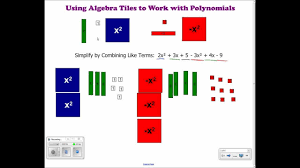 Worksheet Algebra Tiles Best Using Algebra Tiles To Bine Like Terms ...