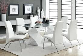 extendable glass dining table sets. full image for modern glass dining table and leather chairs contemporary top sets extendable