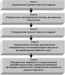 Анализ и состояние текучести кадров на Новосибирском  Всю деятельность по управлению текучестью кадров в рамках общего управления персоналом можно представить в виде следующих последовательных стадий