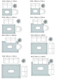 beautiful area rug size chart or guide for dining room unique placement on bedroom king bed