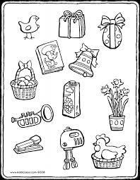 Kleurplaat Paasklokken Pasen