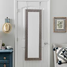 floor mirror. Silver Metallic Blocks Over-the-Door Mirror Floor Mirror