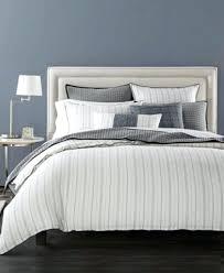 hotel collection ticking stripe linen full queen duvet cover new beckham set
