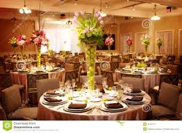 Table Setting At A Luxury Wedding Reception Stock Images Image