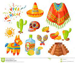 Van De De Pictogrammen Vectorillustratie Van Mexico Van De Reistequila  Traditionele Grafische Van De De Alcoholfiesta Van Het De Vector  Illustratie - Illustratie bestaande uit cactus, chili: 114830147