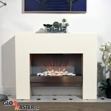 Free Standing Fire Surround White Electric MDF Fireplace Flicker Flame Suite