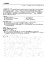 Business Resume Templates Professional Business Administration Consultant Templates to 50