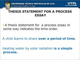 chronological order process essays 5 thesis statement for a process essaya