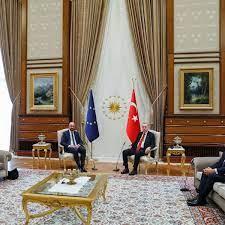 EU-Gipfel in der Türkei: Ursula von der Leyen muss bei Recep Tayyip Erdoğan  aufs Sofa - DER SPIEGEL
