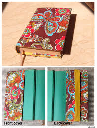 tutorial no 9 adjule fabric book cover d i y guest post by diyfish
