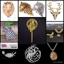 details about game of thrones brooch dragon necklace pendant character mythical jewellery tv