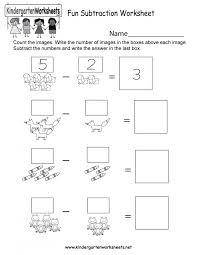 Fun Math Worksheets For Kindergarten Subtraction Worksheet ...