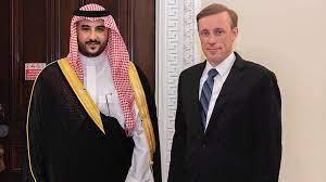 لقاء نائب وزير الدفاع السعودي مع الخارجية الأميركية