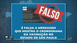 Jornal da EPTV 2ª Edição - Campinas/Piracicaba   Saiba o que é verdade ou  mentira sobre as datas de vacinação no estado de São Paulo