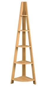 corner ladder archaic design corner ladder shelf features natural oak wood corner shelves and five display