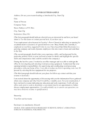 What Is A Proper Cover Letter For A Resume Proper Cover Letter Gallery Cover Letter Sample 57