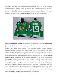 Design Your Own Football Uniform For Fun Ppt Personalized Football Jerseys Powerpoint Presentation